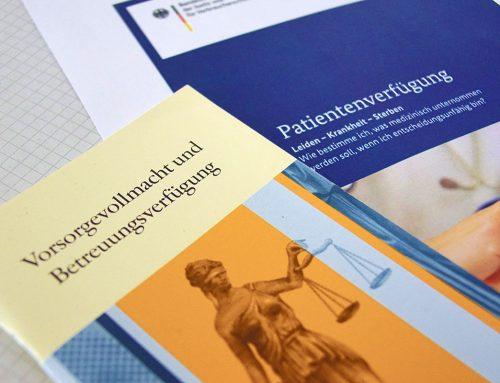 Onlinevortrag zu Patientenverfügung und Vorsorgevollmacht